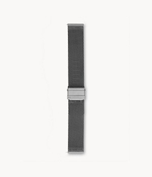 20mm Standard Steel-Mesh Watch Strap, Grey