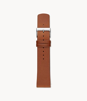 22mm Standard Leather Watch Strap, Brown