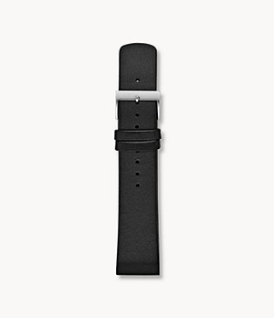 22mm Standard Interchangeable Leather Strap, Black