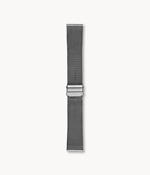 22mm Standard Interchangeable Steel-Mesh Strap, Charcoal