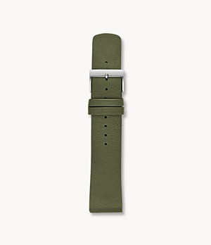 22mm Standard Interchangeable Leather Strap, Olive