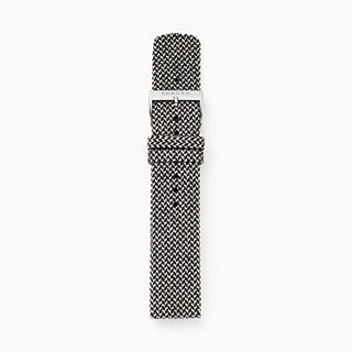 20mm Recycled Woven Strap, Black/White
