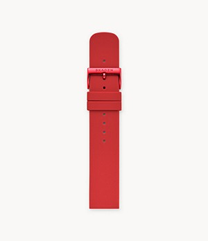 20mm Silicone Watch Strap, Red