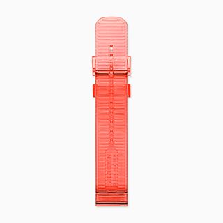 20mm Watch Strap, Coral Transparent