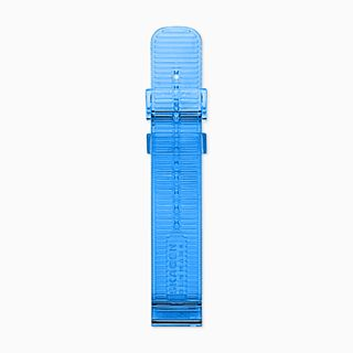 20mm Watch Strap, Blue Transparent