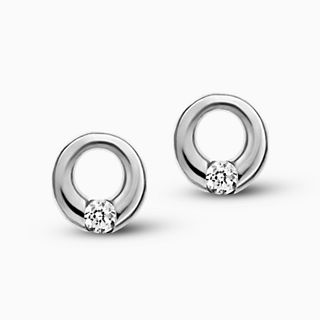 Elin Crystal Circle Earrings