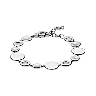 White Sea Glass Silver-Tone Bracelet