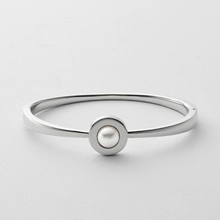 Agnethe Silver-Tone Bangle Bracelet