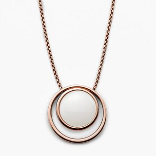 Sea Glass Rose Gold-Tone Necklace