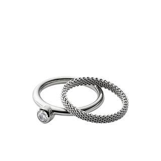 Elin Silver-Tone Crystal Ring