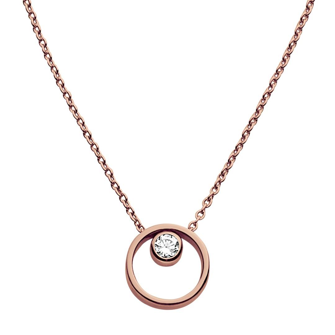 Elin Crystal Circle Necklace  - SKJ0850791