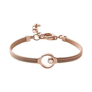 Elin Rose Gold Tone Crystal Bracelet
