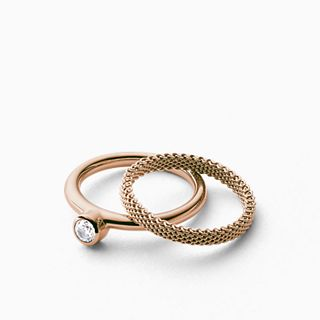 Elin Rose Gold-Tone Crystal Ring