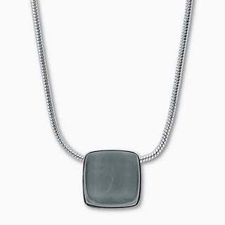 Sea Glass Silver-Tone Necklace