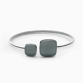 Sea Glass Silver-Tone Bangle