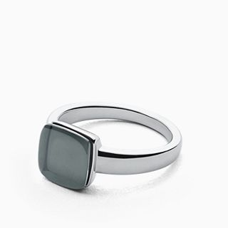 Sea Glass Silver-Tone Ring