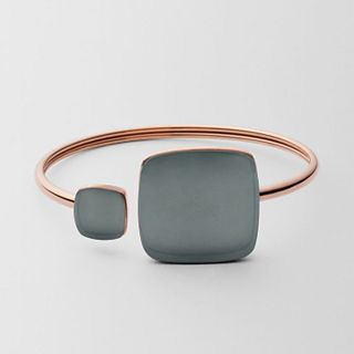 Sea Glass Rose-Gold-Tone Bangle