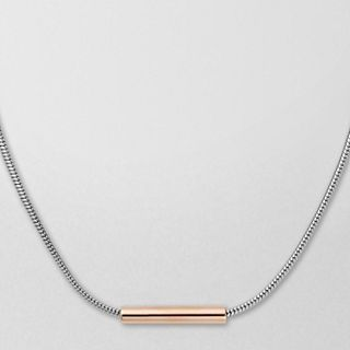Amalie Two-Tone Tubular Necklace