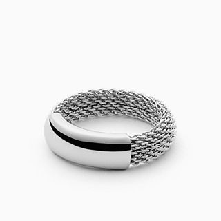 Merete Steel-Mesh Ring
