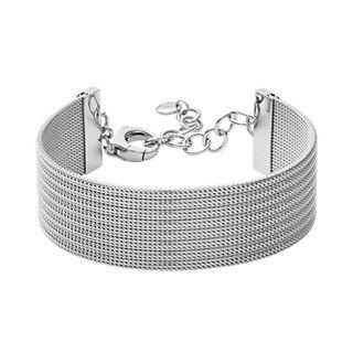 Anette Silver-Tone Steel-Mesh Bracelet