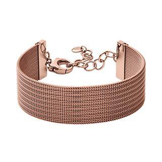Anette Rose-Gold-Tone Steel-Mesh Bracelet