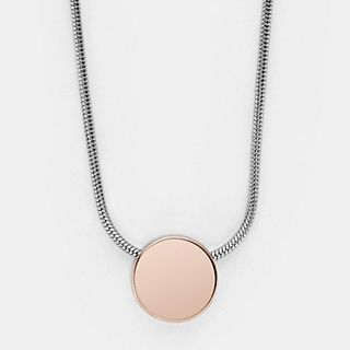 Elin Two-Tone Pendant Necklace