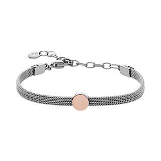 Elin Two-Tone Steel-Mesh Bracelet
