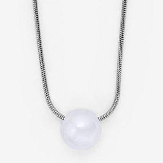 Sea Glass Silver-Tone Pendant Necklace