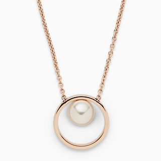 Agnethe Rose Gold-Tone Pearl Pendant Necklace
