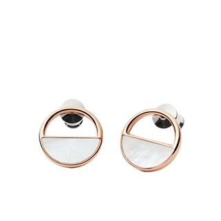 Agnethe Rose-Gold-Tone and Mother-of-Pearl Stud Earrings