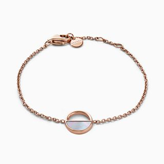 Agnethe Rose-Gold-Tone and Mother-of-Pearl Bracelet