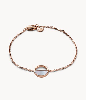Agnethe Rose-Tone and Mother-of-Pearl Bracelet