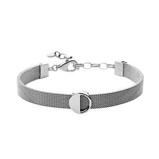 Elin Silver-Tone Steel-Mesh Bracelet