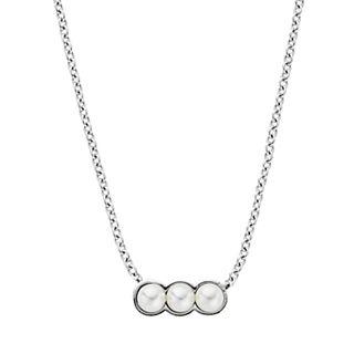 Agnethe Micro-Pearl Silver-Tone Pendant Necklace