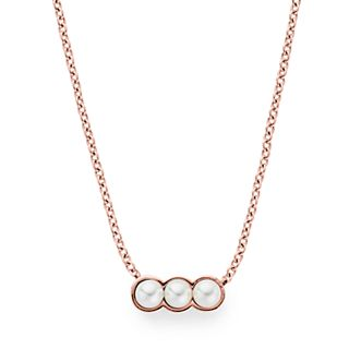 Agnethe Micro-Pearl Rose-Gold-Tone Pendant Necklace