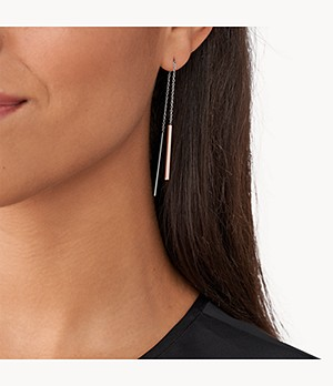Elin Two-Tone Threader Earrings