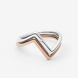Elin Two-Tone Stacking Rings