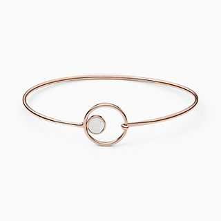 Agnethe Rose-Tone Mother-of-Pearl Bangle