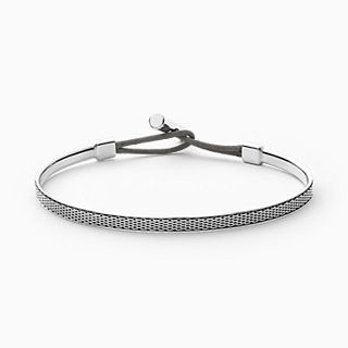 Merete Silver-Tone Mesh Bangle