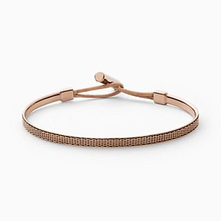 Merete Rose-Tone Mesh Bangle