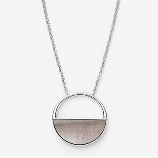 Agnethe Silver-Tone and Mother-of-Pearl Short Pendant Necklace