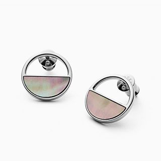 Agnethe Silver-Tone and Mother-of-Pearl Stud Earrings