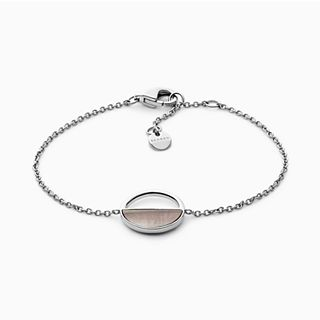 Agnethe Silver-Tone and Mother-of-Pearl Bracelet