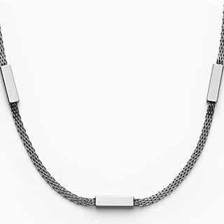 Merete Silver-Tone Mesh Necklace