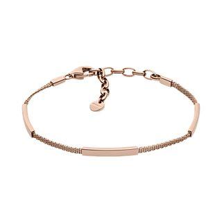 Merete Rose-Tone Mesh Bracelet