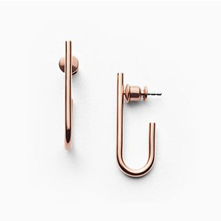 Elin Rose-Tone Hook Earrings