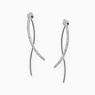 Kariana Silver-Tone Crystal Wire Earrings