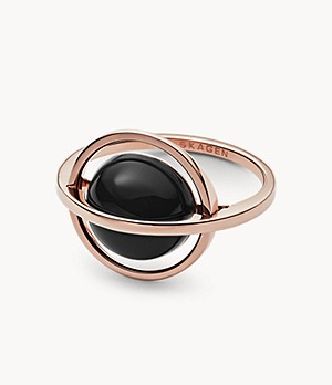 Ellen Onyx and Rose-Tone Ring