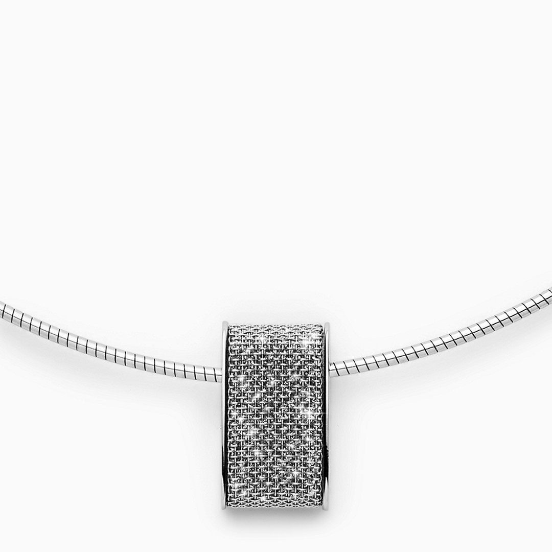 Merete Brilliant Mesh Pendant Necklace  - SKJ1149040