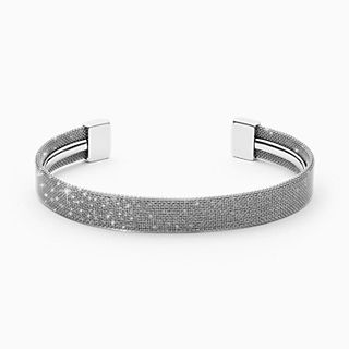 Merete Silver-Tone Brilliant Mesh Bangle